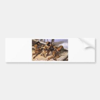 Adesivo De Para-choque Uma escova com os Redskins por Frederic Remington