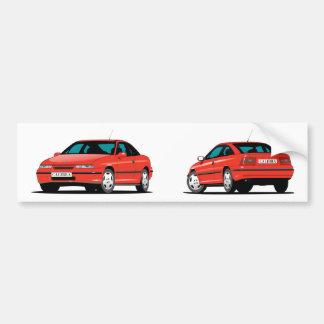 Adesivo De Para-choque Vermelho de Opel Calibra