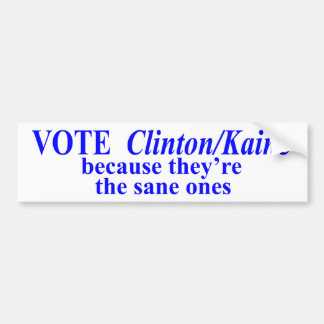 Adesivo De Para-choque Voto Clinton/Kaine sãos