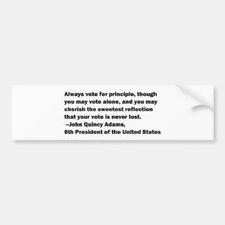 Adesivo De Para-choque Voto em citações do princípio por John Quincy