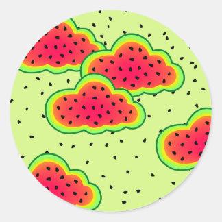 Adesivo Design das nuvens da melancia