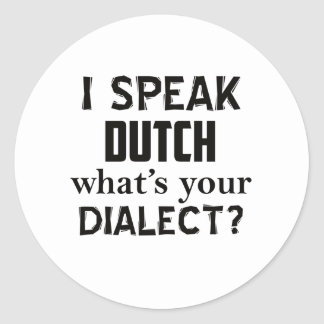 Adesivo Design holandês do dialecto