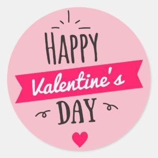 Adesivo Dia dos namorados feliz do coração cor-de-rosa