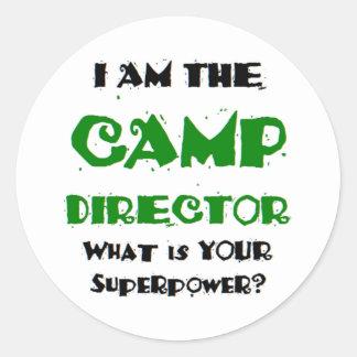 Adesivo diretor do acampamento