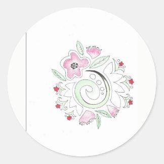 Adesivo doodle da flor