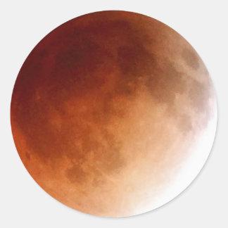 Adesivo Eclipse lunar (15) 1:08 am partido do 15 de abril