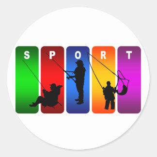 Adesivo Emblema multicolorido da pesca