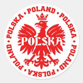 Adesivo Emblema polonês de Polska Eagle