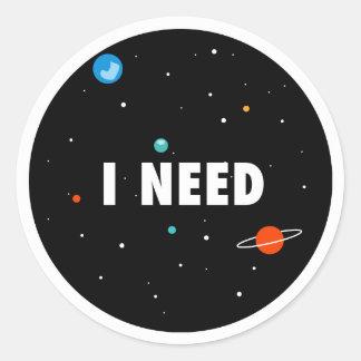 Adesivo espaço da necessidade