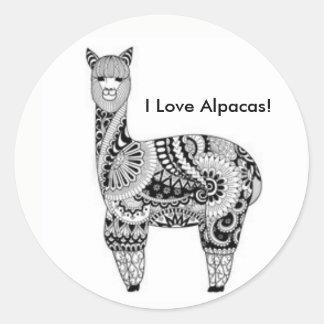 "Adesivo ""Eu amo alpacas! ""Etiquetas"