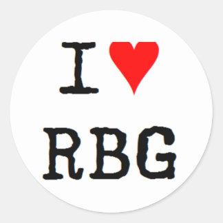 Adesivo eu amo o rbg