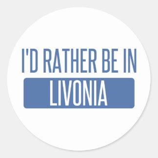 Adesivo Eu preferencialmente estaria no Livonia