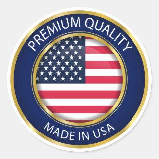 Adesivo Feito no selo dos EUA, bandeira americana