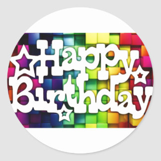Adesivo Feliz Aniversário - Happy Birthday