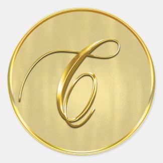 Adesivo Feriado do convite do casamento do selo do ouro do