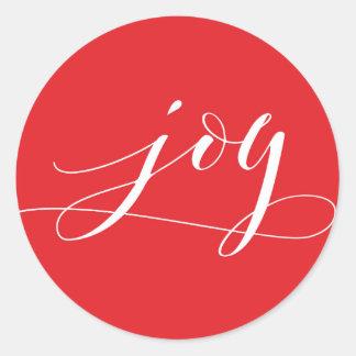 Adesivo Feriado vermelho do Natal da alegria