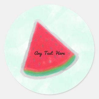 Adesivo Festa de aniversário da aguarela da melancia