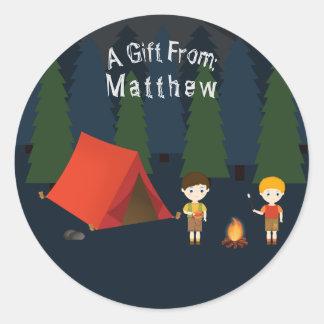 Adesivo Festa de aniversário de acampamento