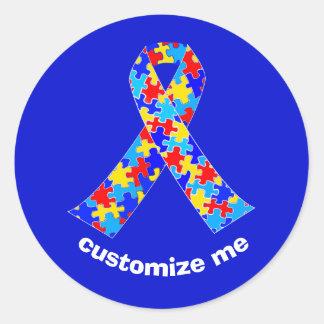 Adesivo Fita feita sob encomenda da consciência do autismo