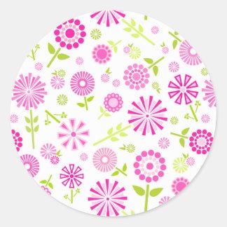 Adesivo Flores cor-de-rosa bonitos do primavera