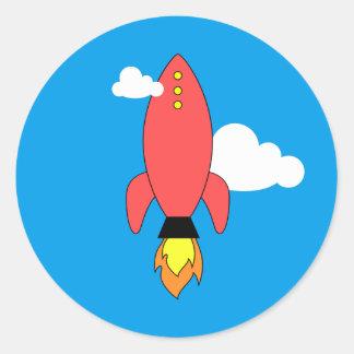 Adesivo Foguete vermelho dos desenhos animados