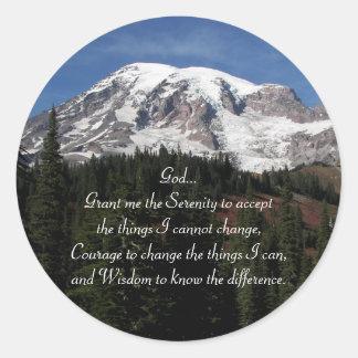 Adesivo Foto do Monte Rainier da oração da serenidade