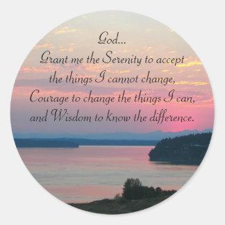 Adesivo Foto do Seascape do rosa da oração da serenidade