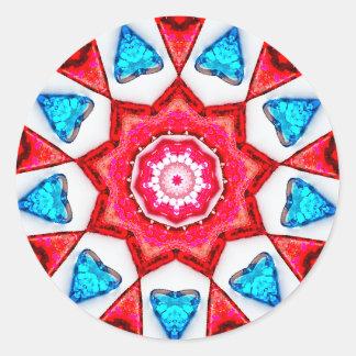 Adesivo Fractal azul dos corações