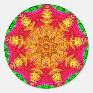 Adesivo Fractal da estrela do ouropel