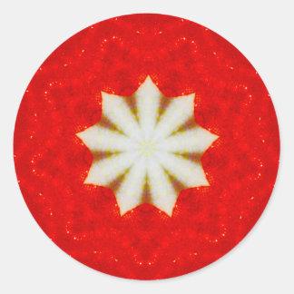Adesivo Fractal da estrela do White Christmas