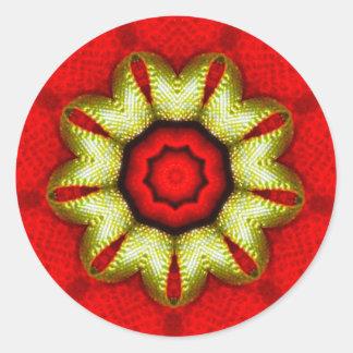 Adesivo Fractal dourado da estrela do Natal