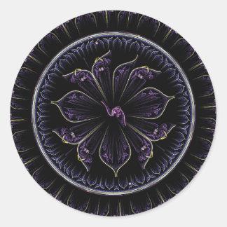 Adesivo fractal roxo escuro