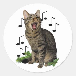 Adesivo Gato do Natal do canto