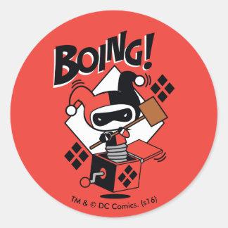Adesivo Harley-Quinn-Em-UM-Box de Chibi com martelo