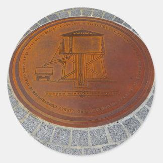 Adesivo Ícones de Folsom: Cobrir de câmara de visita