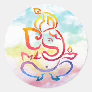 Adesivo Ilustração de Ganesha no fundo pastel do céu