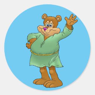 Adesivo Ilustração dos desenhos animados de um urso de