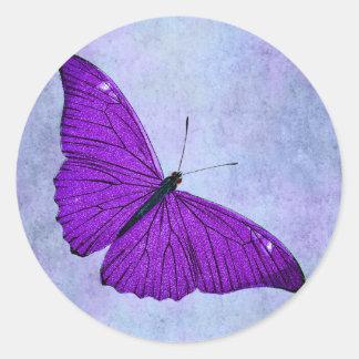 Adesivo Ilustração roxa escura da borboleta dos 1800s do