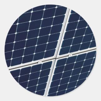 Adesivo Imagem de um painel de energias solares engraçado