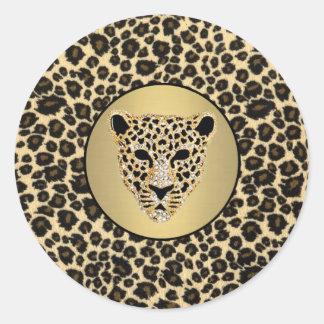 Adesivo Impressão 2 do leopardo