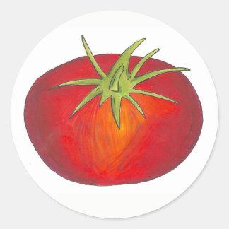Adesivo Jardim vegetal italiano do tomate maduro suculento