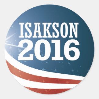 Adesivo Johnny Isakson 2016