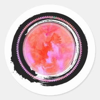 Adesivo Jóia do Opal do rosa de tinta preta e Pastel