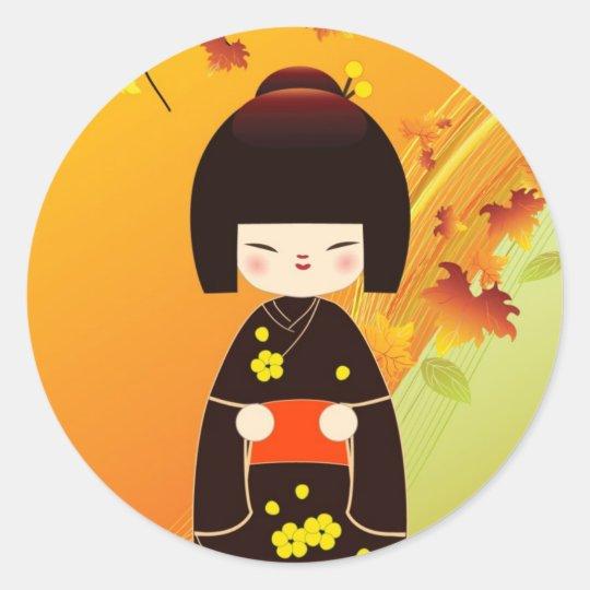 Adesivo Kokeshi doll sticker