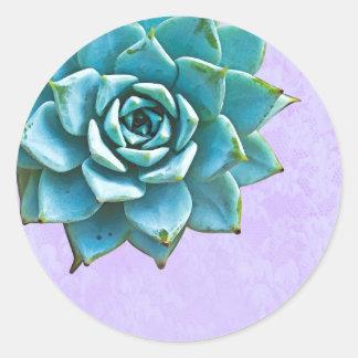 Adesivo Laço da lavanda da aguarela do Succulent