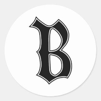 Adesivo Letra gótico inglesa B do monograma