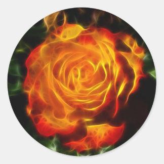 Adesivo Lindo aumentou no fogo