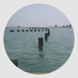 Adesivo Linhas costeiras do Lago Michigan