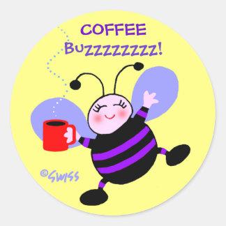 Adesivo Listras bonitos do roxo da abelha ocupada do