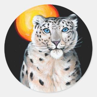 Adesivo Lua do leopardo de neve